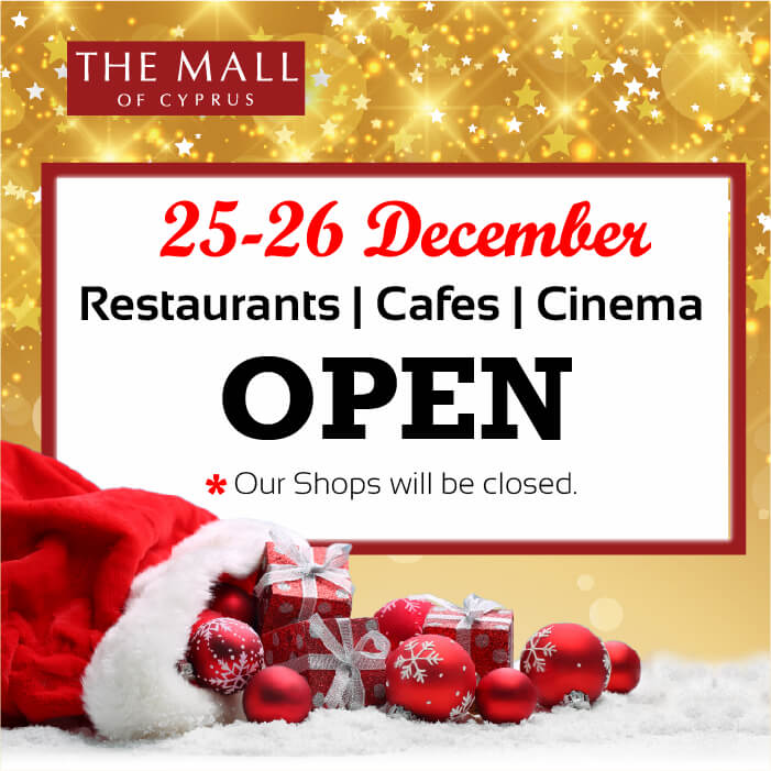 Christmas Operating Hours | Mall of Cyprus