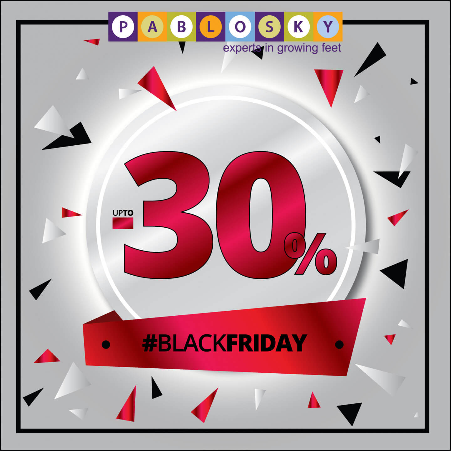 cfc7da7d999 ... #BLACKFRIDAY AT Pablosky Cyprus Don't miss our offers for Black Friday  ‼ Save up to 30% in all items!