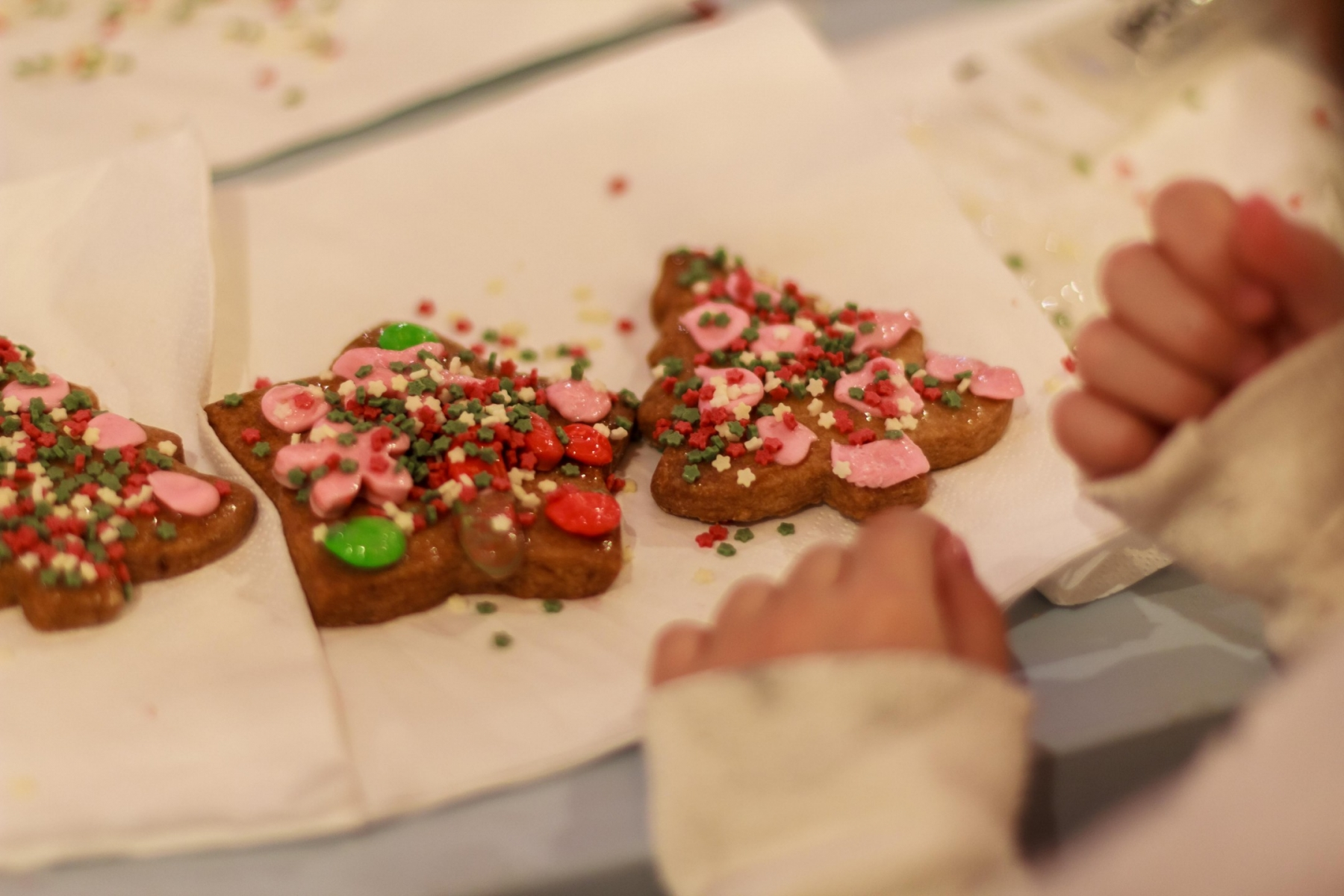 take a look at some of the photos taken at our decorate christmas cookies activity - How To Decorate Christmas Cookies